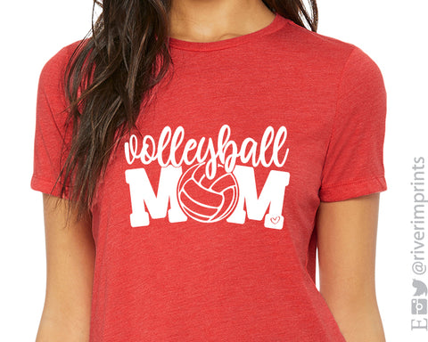 VOLLEYBALL MOM Graphic Triblend Tee by River Imprints