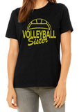 VOLLEYBALL SISTER Glittery Cotton Tee