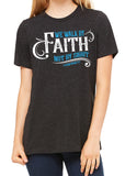 WALK BY FAITH Easter triblend t-shirt