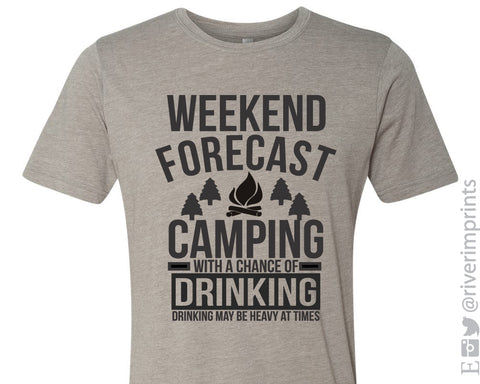 WEEKEND FORECAST CAMPING Graphic Blend Tee Shirt