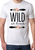 WILD AT HEART Sublimated Triblend T-shirt by River Imprints