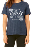 WILD HEARTS CAN'T BE BROKEN Graphic Triblend T-shirt by River Imprints