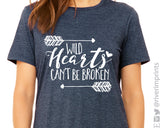 WILD HEARTS CAN'T BE BROKEN Graphic Triblend Tee by River Imprints