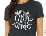 SALE - WILL TRADE CANDY FOR WINE Triblend Raglan Shirt
