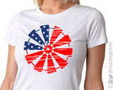 WINDMILL FLAG Sublimated Triblend Tee by River Imprints