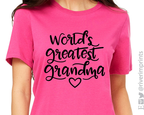 WORLD'S GREATEST GRANDMA Graphic Triblend Tee by River Imprints