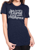YOU SAY CRAFTER I SAY ENTREPRENEUR Graphic Triblend T-shirt by River Imprints