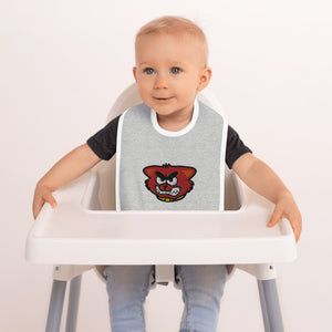 Open image in slideshow, Embroidered Baby Bib - Cat