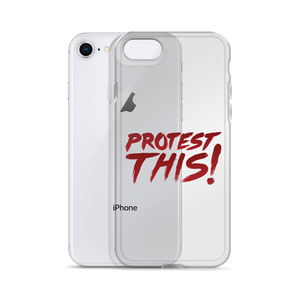 iPhone Case -  red font
