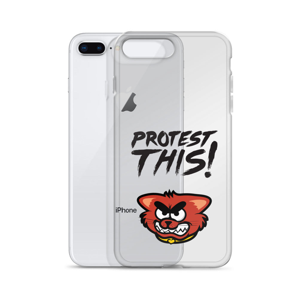 iPhone Case - cat - black font