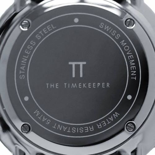 White / Silver / Silver Mesh - The Timekeeper