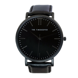 Black / Black / Black Leather - The Timekeeper