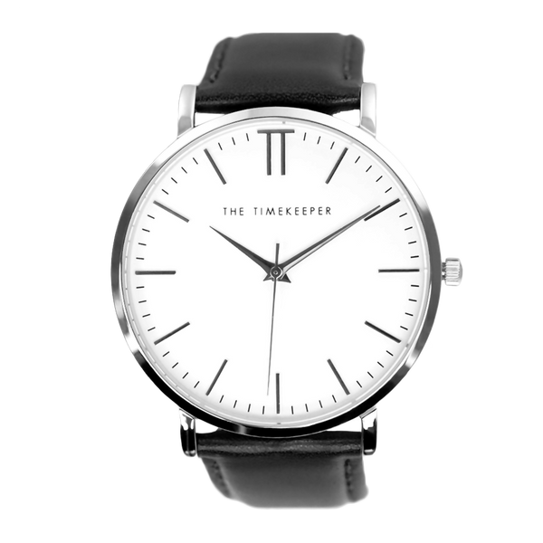 White / Silver / Black Leather - The Timekeeper