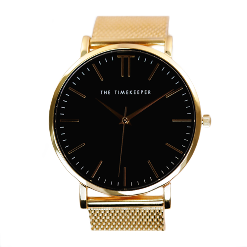 Black / Gold / Gold Mesh - The Timekeeper