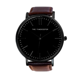 Black / Black / Dark Brown Leather - The Timekeeper