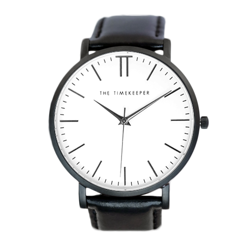 White / Black / Black Leather - The Timekeeper