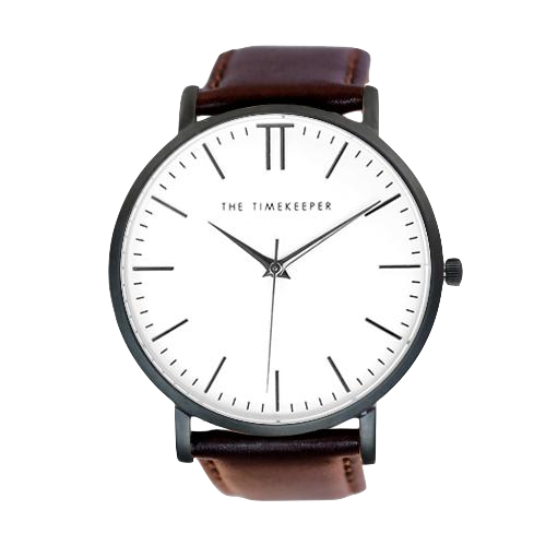 White / Black / Dark Brown Leather - The Timekeeper
