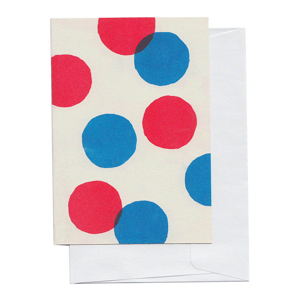 Red and Blue Circles Card