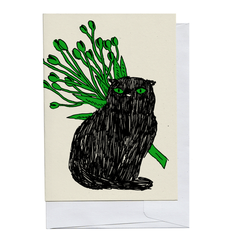 Black Kitty Card
