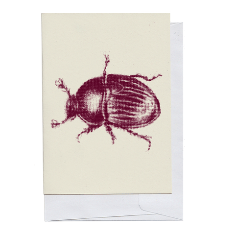 Burgundy Beetle Card
