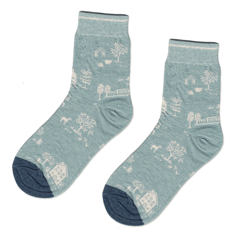 Blue Farm Socks