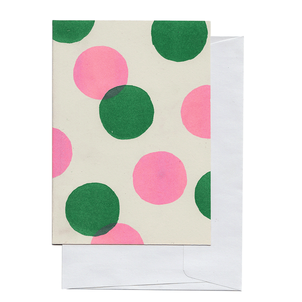 Green and Pink Circles Card