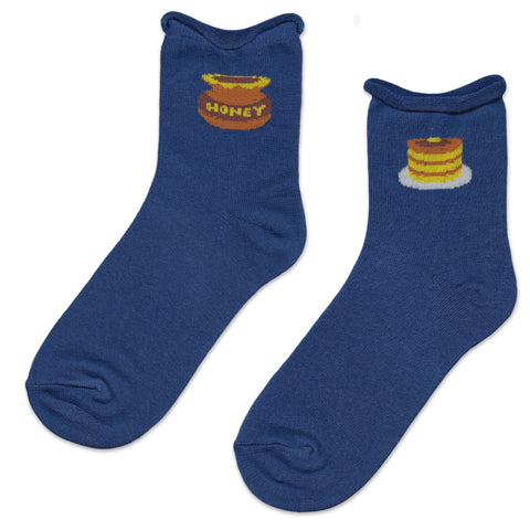 Blue Pancake and Honey Socks