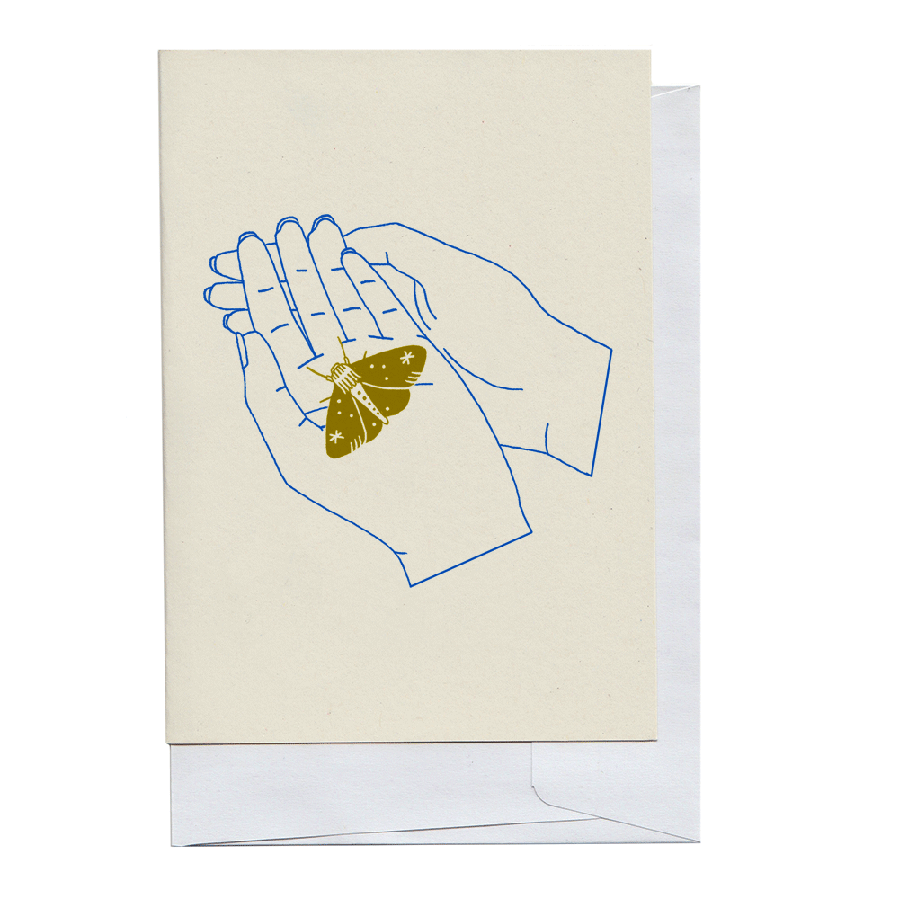 Moth in Hand Card
