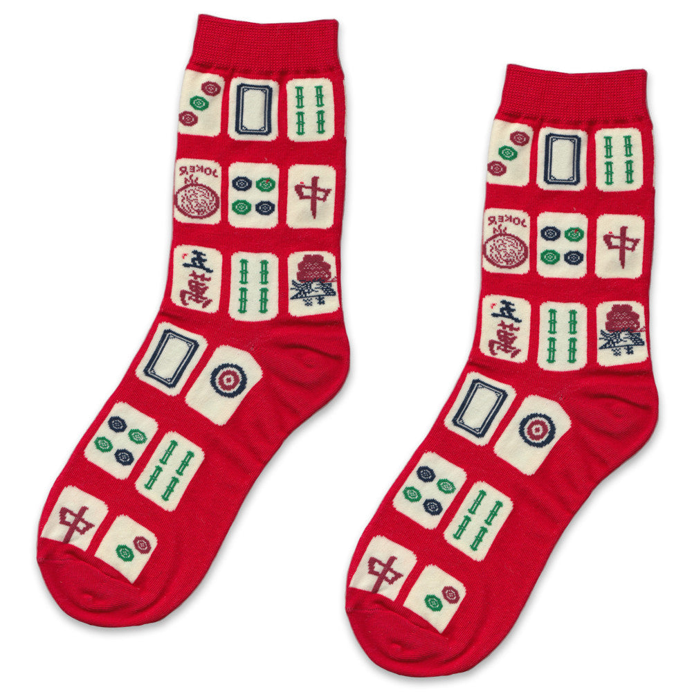 Red Mahjong Socks