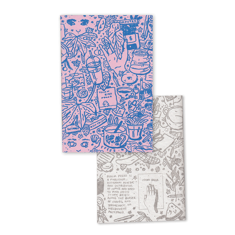 Set of Two Riso Printed Notebooks