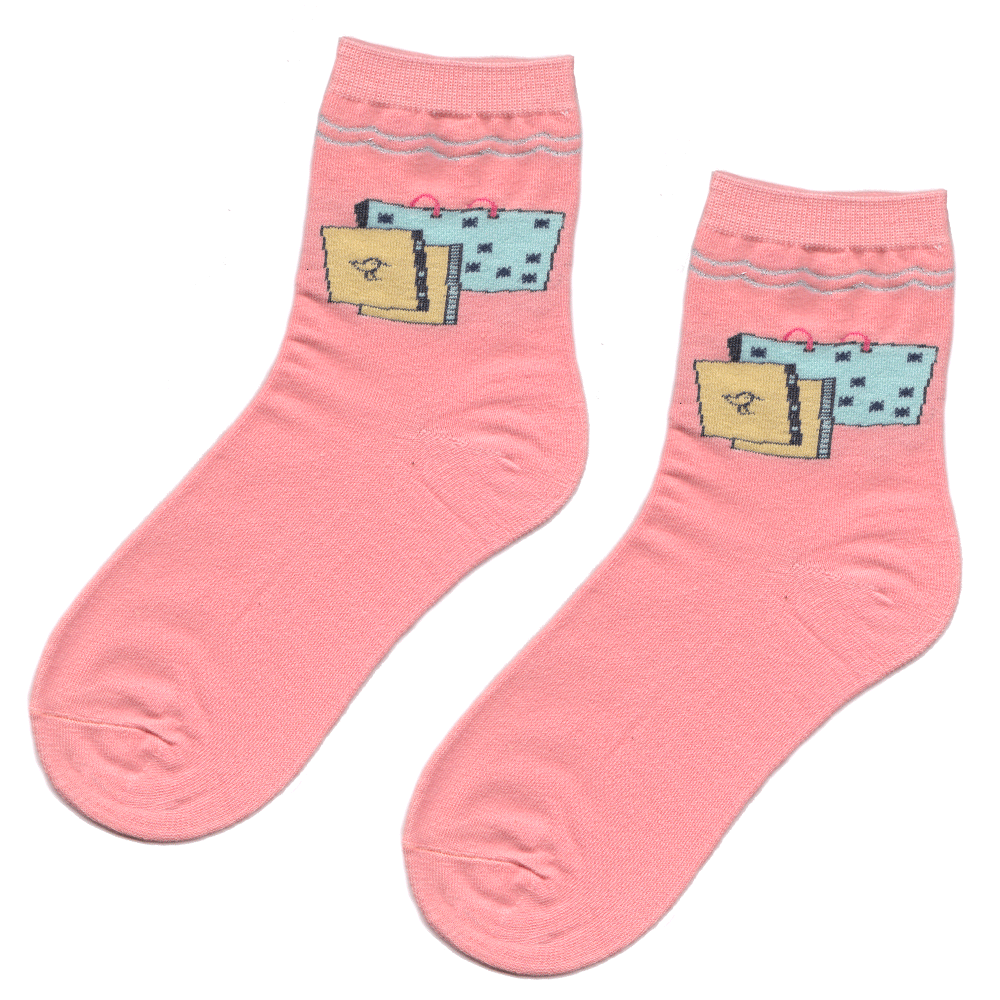 Pink School Supplies Socks
