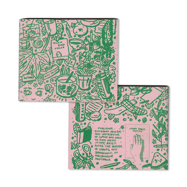Set of Two Pink Riso Printed Notebooks