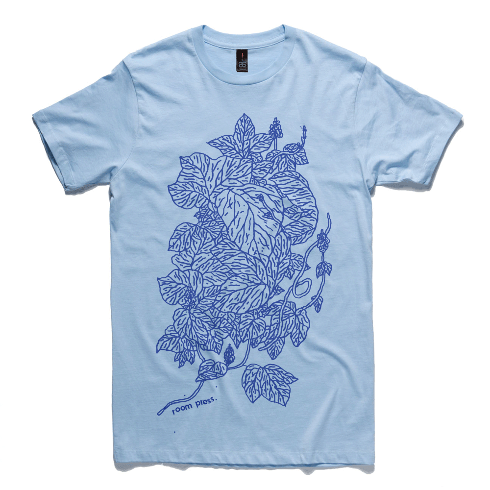 Blue Leaf Structure shirt