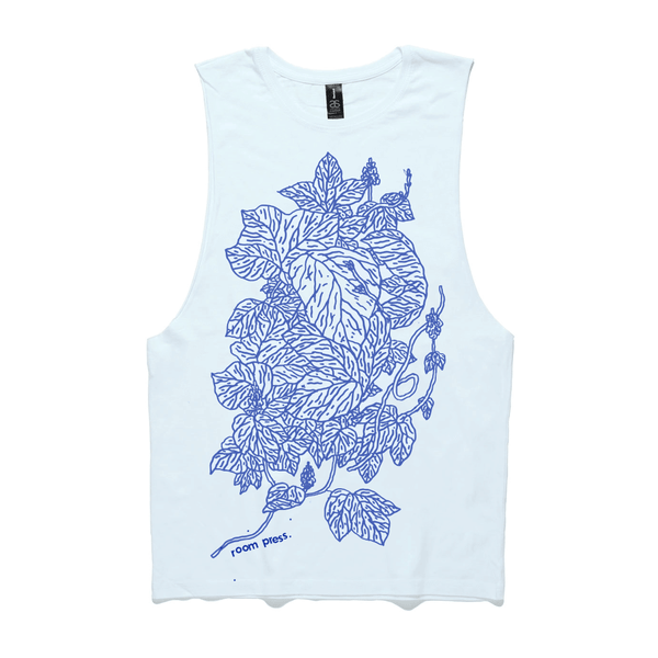 White Leaf Structure Singlet shirt