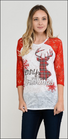 Plaid Deer Merry Christmas Pre Order