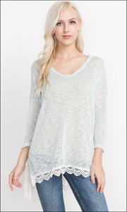 Lace Trimmed Top *In Stock*