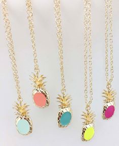 Pineapple Pendent Necklace *In Stock*