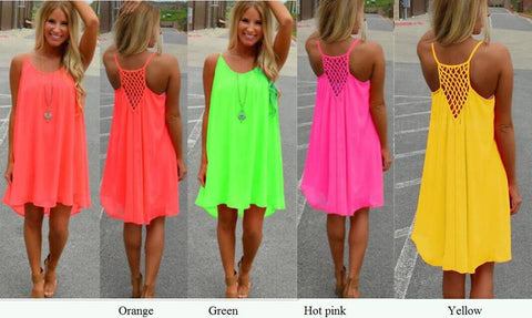 Neon Dress/Beach Cover Up In Stock