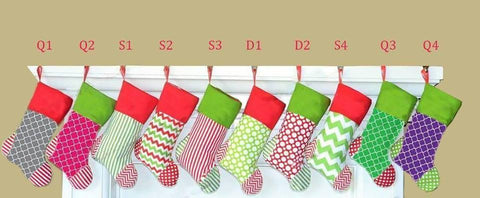 Colorful Christmas Stockings *In Stock*