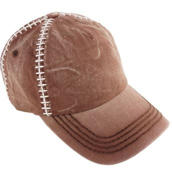 Football Stitch Baseball Cap *In Stock*