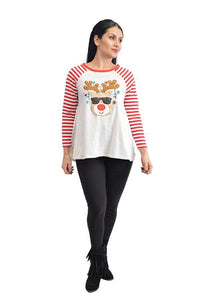 Women's Reindeer Tops In Stock