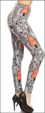 Gray Christmas Tree Leggings Pre Order