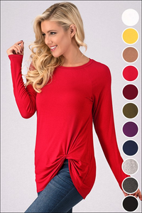 Long Sleeve Knot Top Pre Order