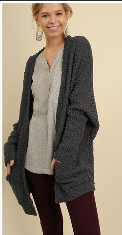 Open Front Sweater with Pockets In Stock