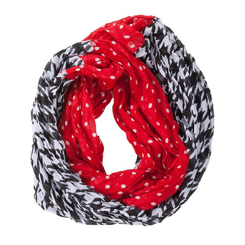Houndstooth Infinity Scarf In Stock