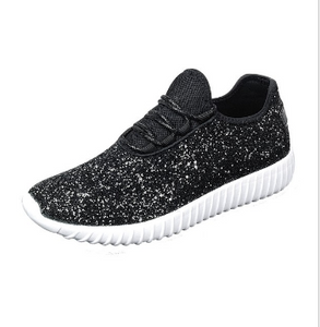 Kid's Black Glitter Sneakers  *In Stock*