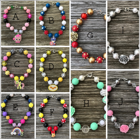 Girl's Bubble Gum Necklaces *Pre Order*