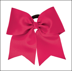Hot Pink Cheer Bow (In Stock)