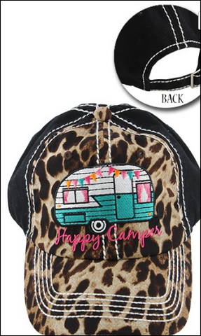 Happy Camper Leopard Hat In Stock