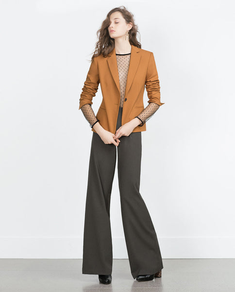 DOUBLE FABRIC BLAZER